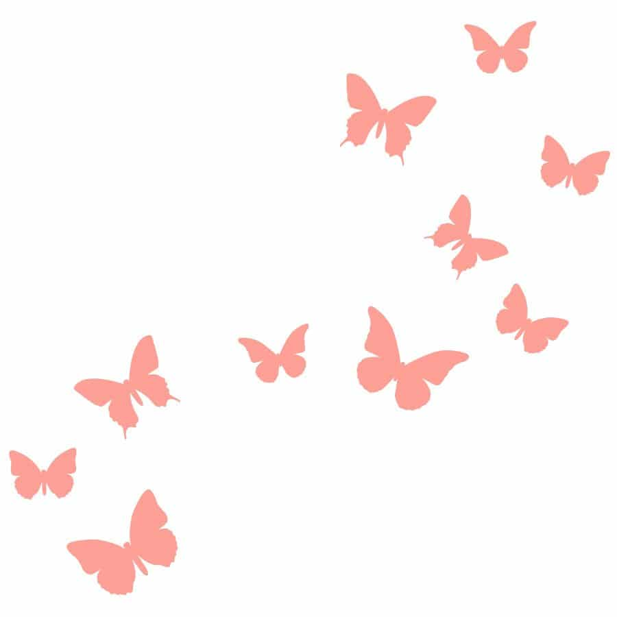 Pink butterfly wall stickers | Classic Woodland | Stickerscape | UK