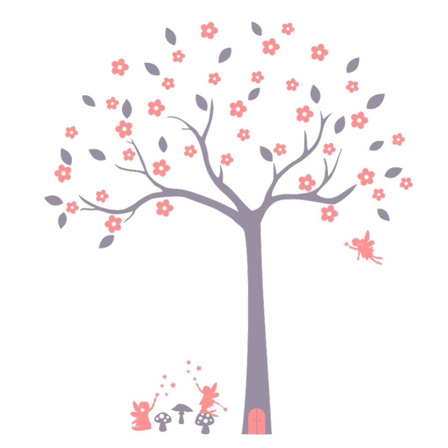 Fairy tree wall sticker (Option 1) | Tree wall stickers | Stickerscape | UK