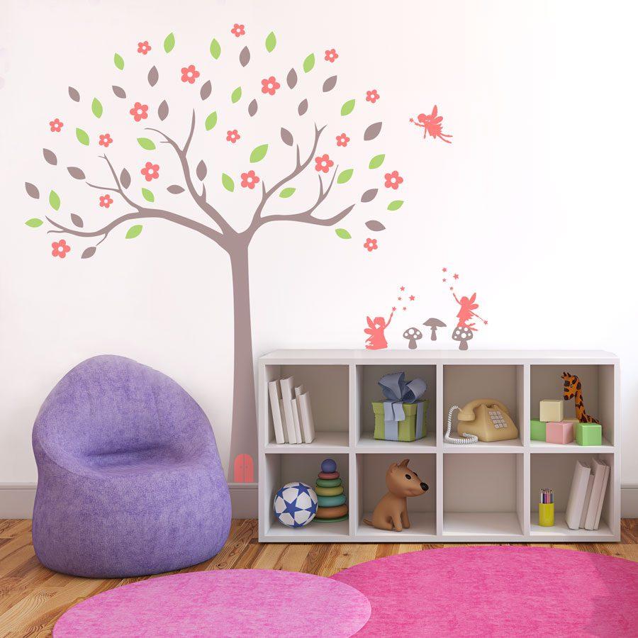 Fairy tree wall sticker (Option 2) | Tree wall stickers | Stickerscape | UK