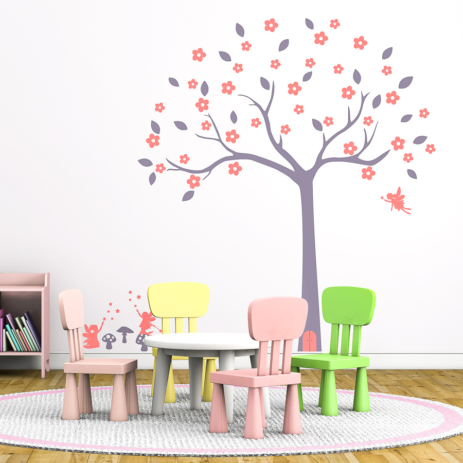 Fairy tree wall sticker (Option 1) | Tree wall stickers | Stickerscape | UK