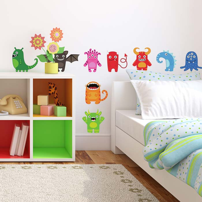 Monster wall stickers | Space wall stickers | Stickerscape | UK