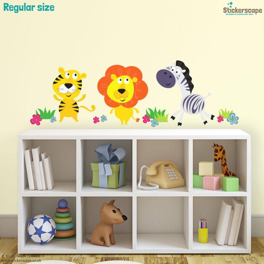 Jungle animal wall stickers (Regular size) | Jungle wall stickers | Stickerscape | UK