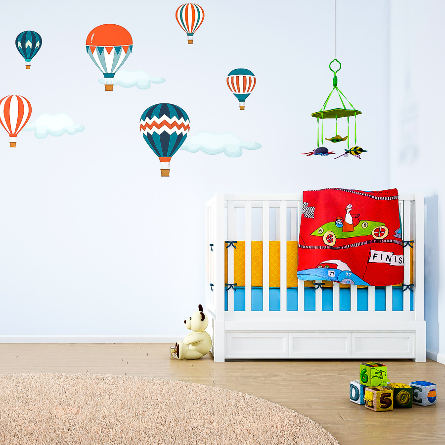 Classic balloon wall stickers | Nursery wall stickers | Stickerscape
