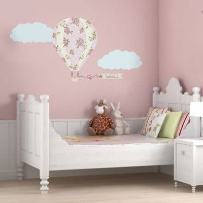 Personalised vintage hot air balloon wall sticker | Transport wall stickers | Stickerscape | UK