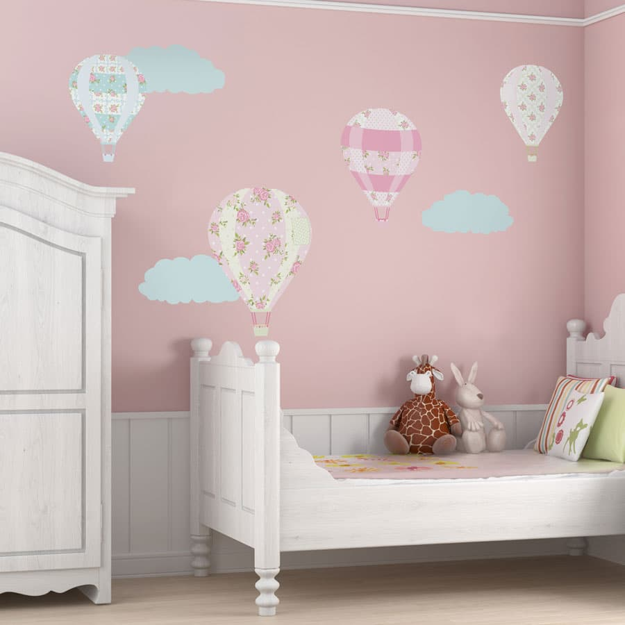 Vintage hot air balloon wall stickers (Large size) | Transport wall stickers | Stickerscape | UK