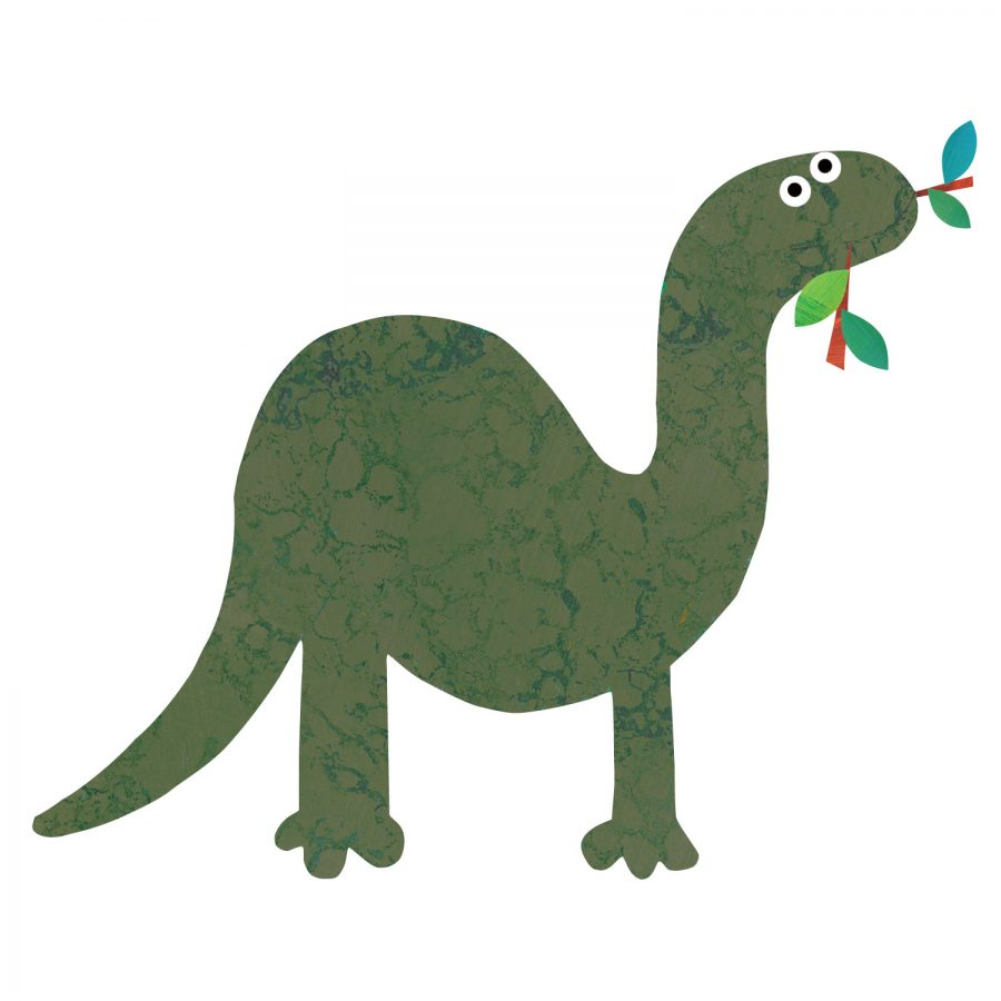 Brontosaurus wall sticker (Green) is a great little accessory to a child's room to add a dinosaur theme