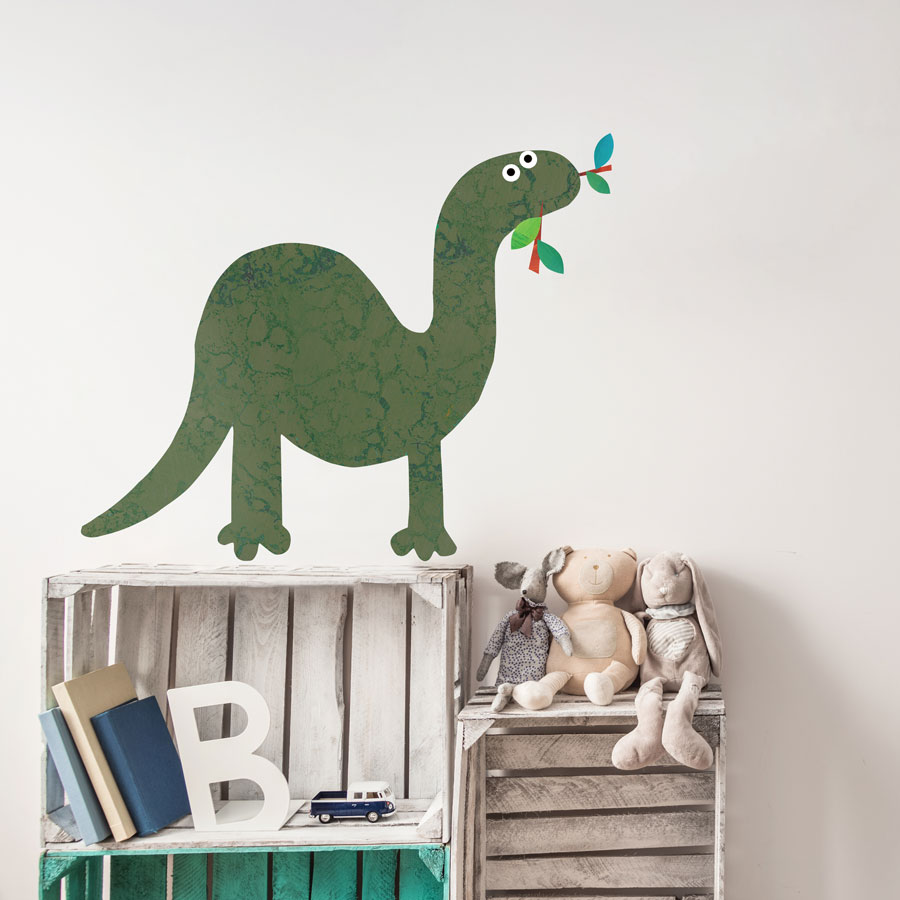 Brontosaurus wall sticker (Large - Green) is a great little accessory to a child's room to add a dinosaur theme