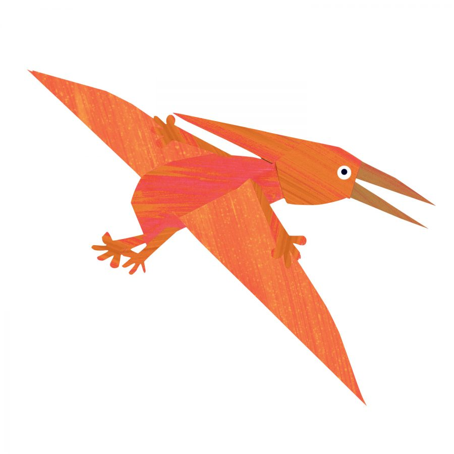 Pterodactyl wall sticker (Orange) is a great little accessory to a child's room to add a dinosaur theme