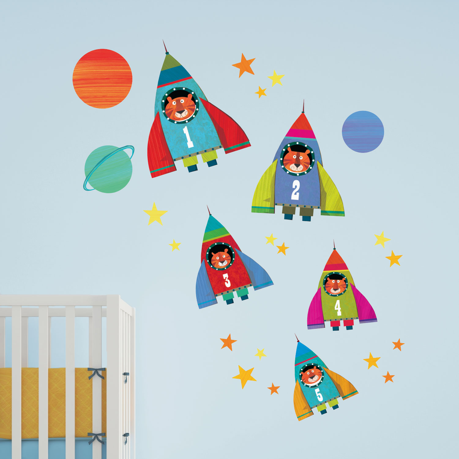 Rocket wall stickers | Kali Stileman | Stickerscape | UK