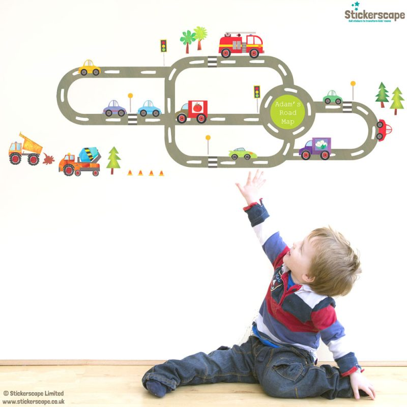 Personalised transport wall sticker pack