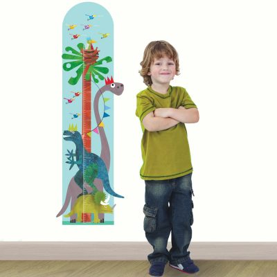 Dinosaur height chart wall sticker by Kali Stileman perfect for decorating a dinosaur themed toddler room