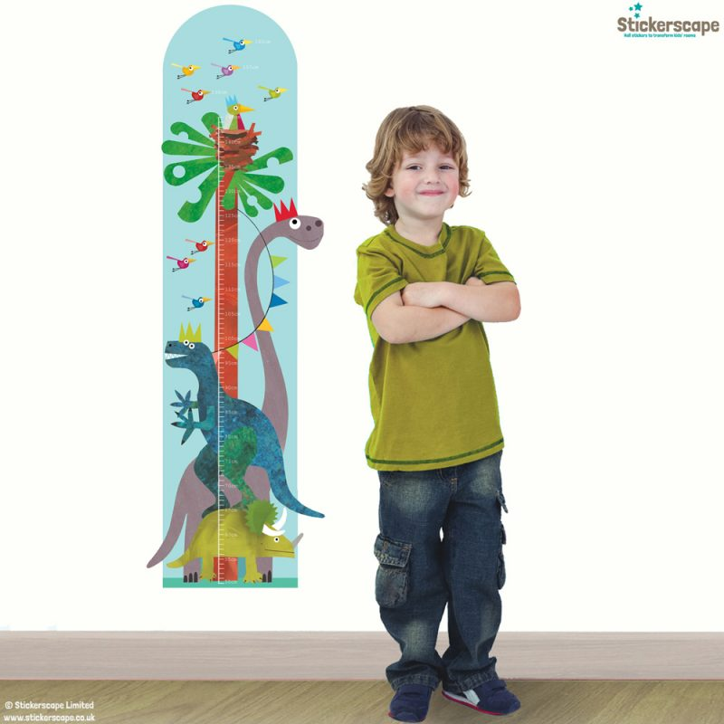Dinosaur height chart wall sticker by Kali Stileman