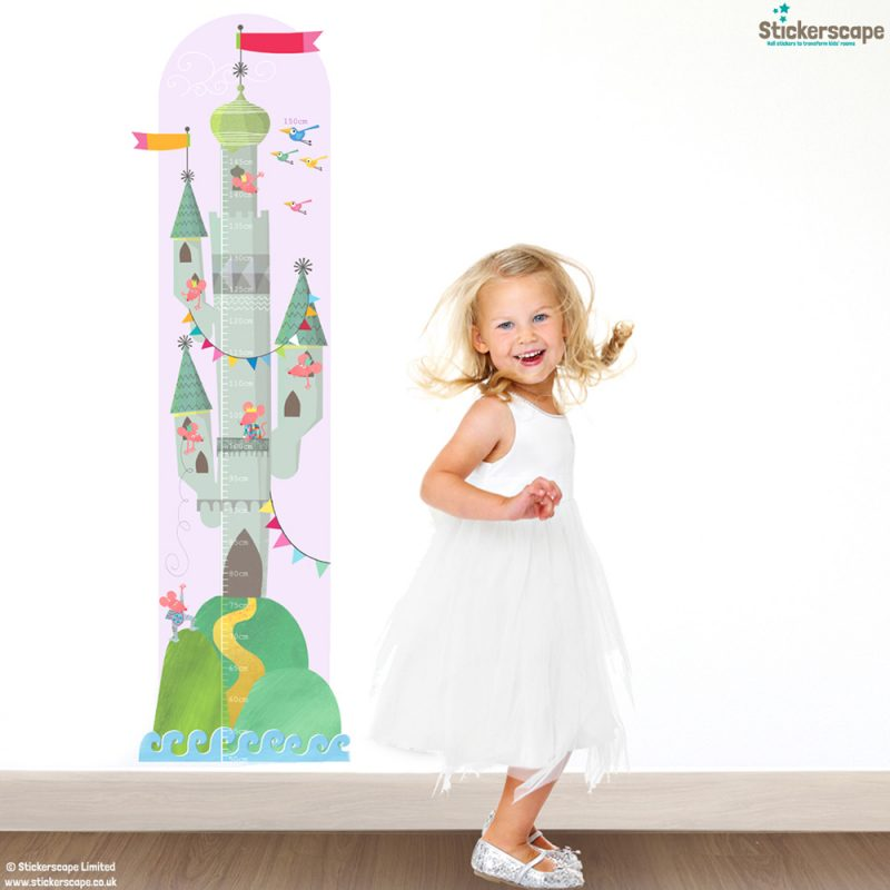 Mouse castle height chart wall sticker by Kali Stileman