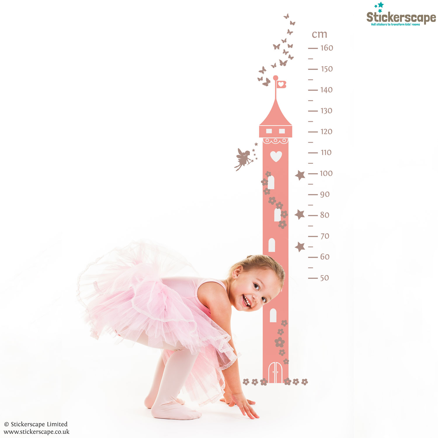 Fairy princess height chart wall sticker stickerscape uk fairy princess height chart wall sticker amipublicfo Gallery