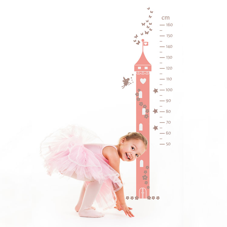 Fairy princess height chart wall sticker | Fairy princess wall stickers | Stickerscape | UK