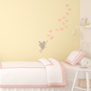Fairy and butterflies wall sticker | Fairy themed room | Stickerscape | UK