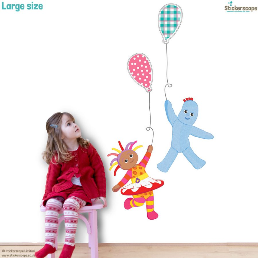 Igglepiggle and Upsy Daisy with balloons wall sticker | In the Night Garden | Stickerscape | UK