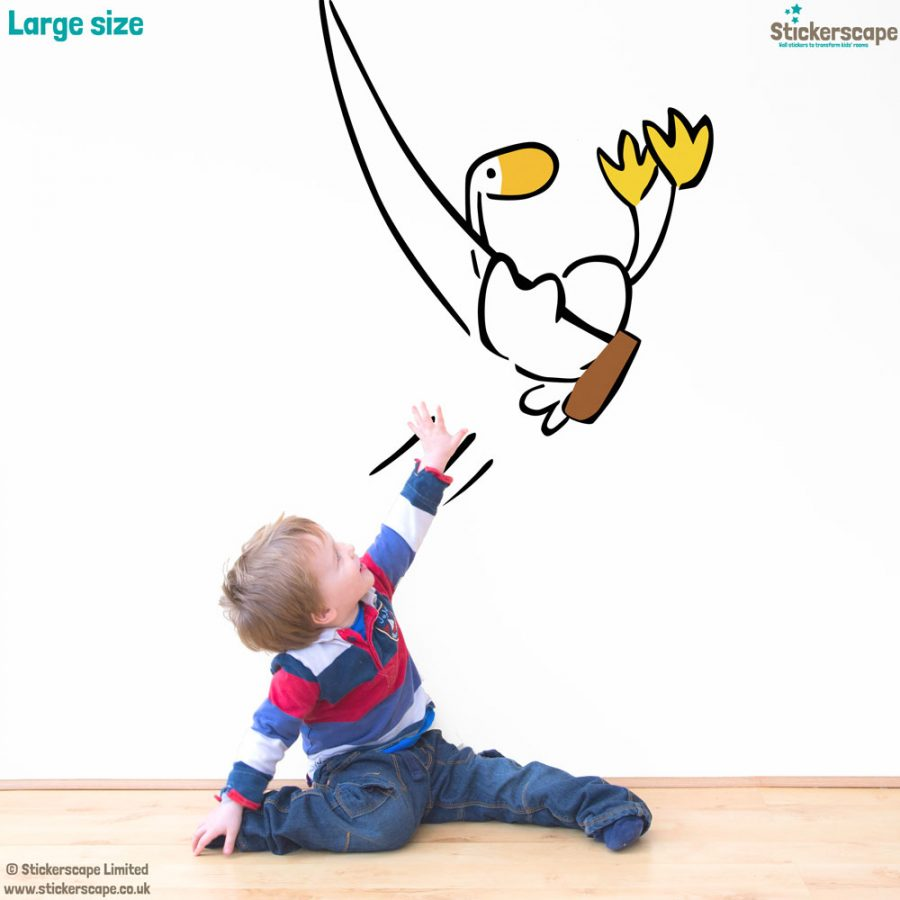 Goose on a swing wall sticker (Large size)