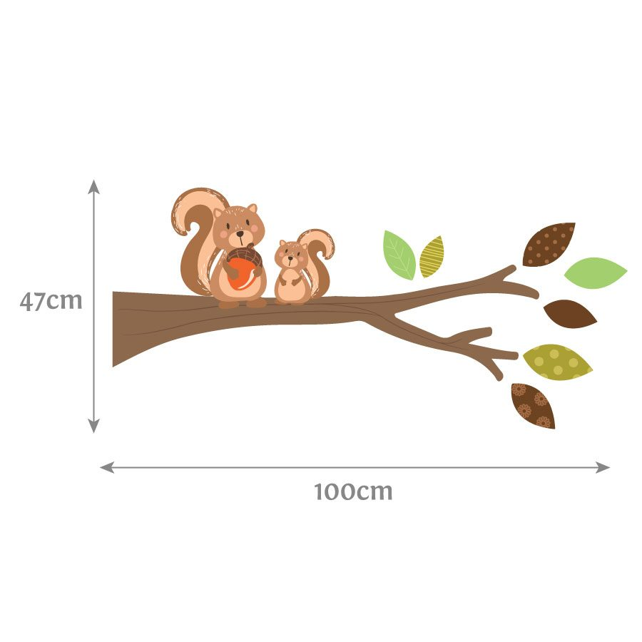 Woodland branch (right facing) wall sticker | Woodland Friends wall stickers | Stickerscape | UK