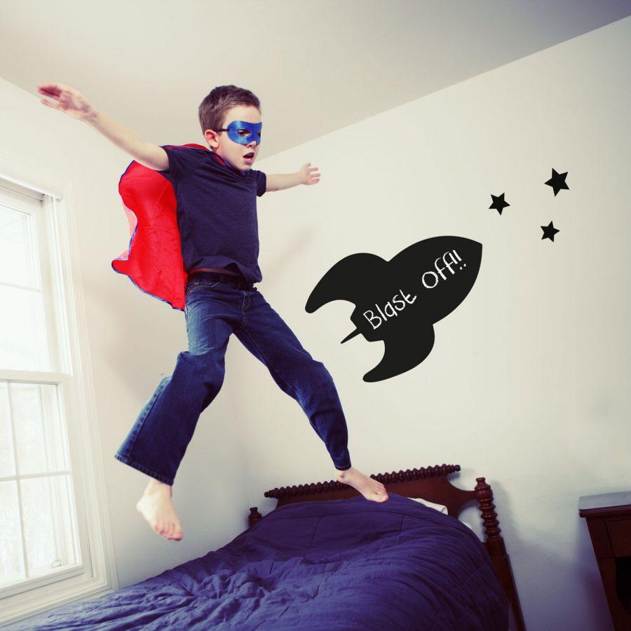 Rocket chalkboard wall sticker | Chalkboard wall stickers | Stickerscape | UK