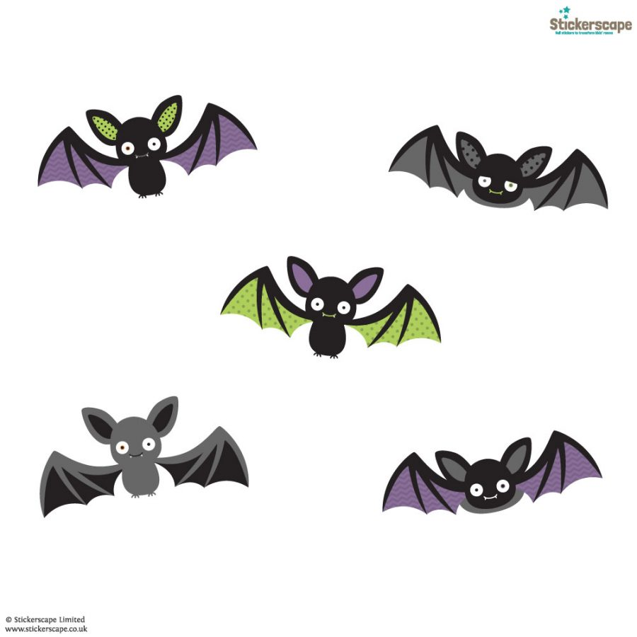 Bat window stickers | Halloween window stickers | White Background