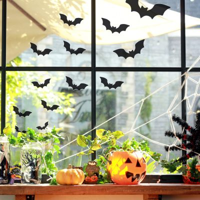 Bat window sticker pack (Option 1) is a perfect way to decorate your home with a Halloween theme