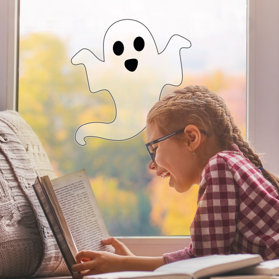 Single ghost window sticker pack (Regular size) is a great fun way to add a fun Halloween theme to your window this Halloween