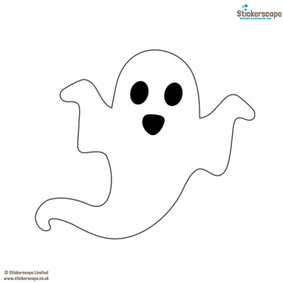 Single ghost window sticker pack on a white background