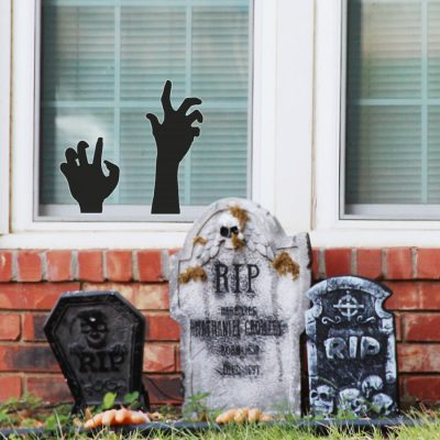 Creepy hands window stickers (Option 1) perfect for decorating your home this Halloween with a spooky scary theme