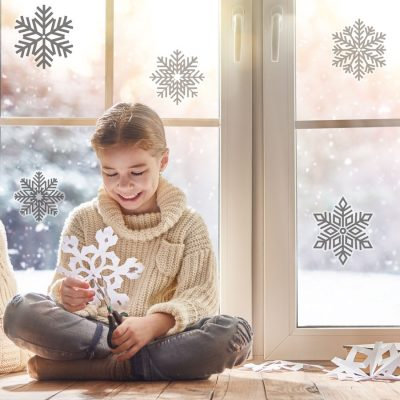 Snowflake window stickers (Option 1) perfect for decorating your windows this Christmas