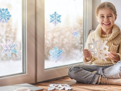 Watercolour snowflake window stickers (Option 1) perfect way to decorate your windows this Christmas