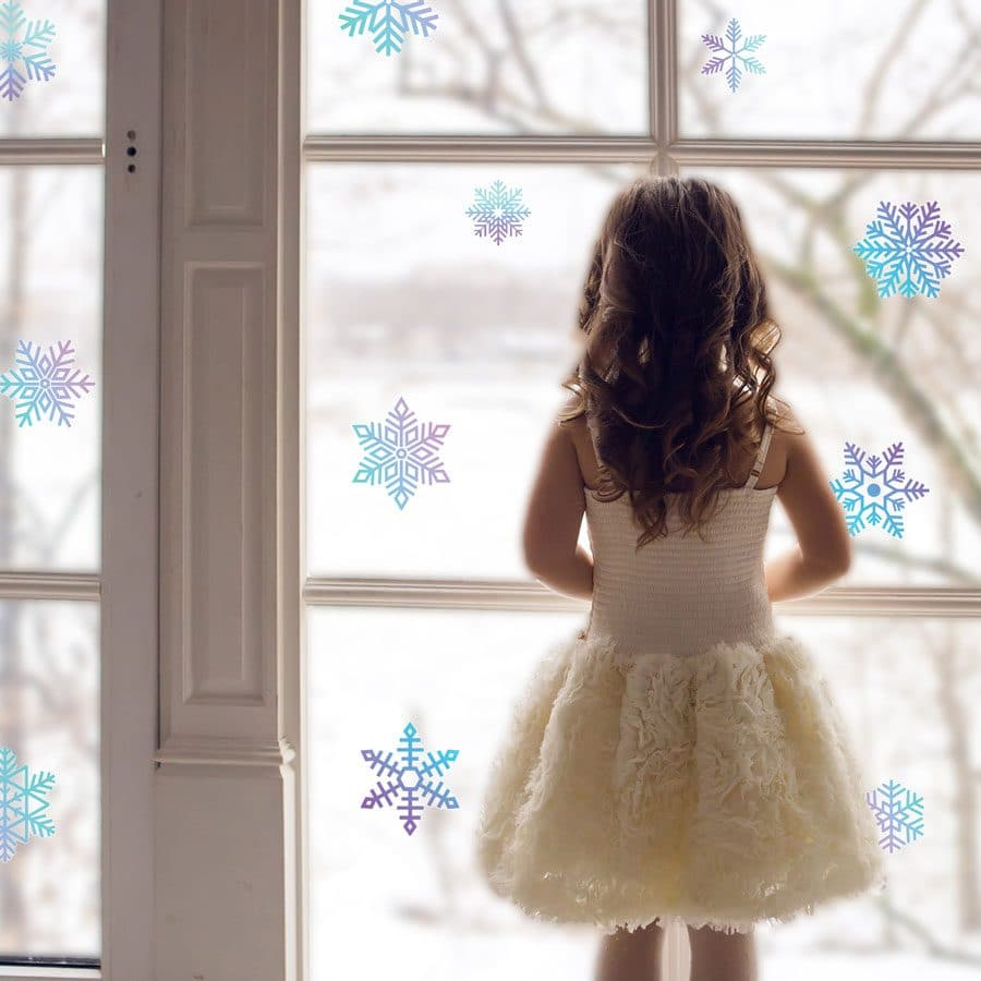 Watercolour snowflake window stickers (Option 2) perfect way to decorate your windows this Christmas