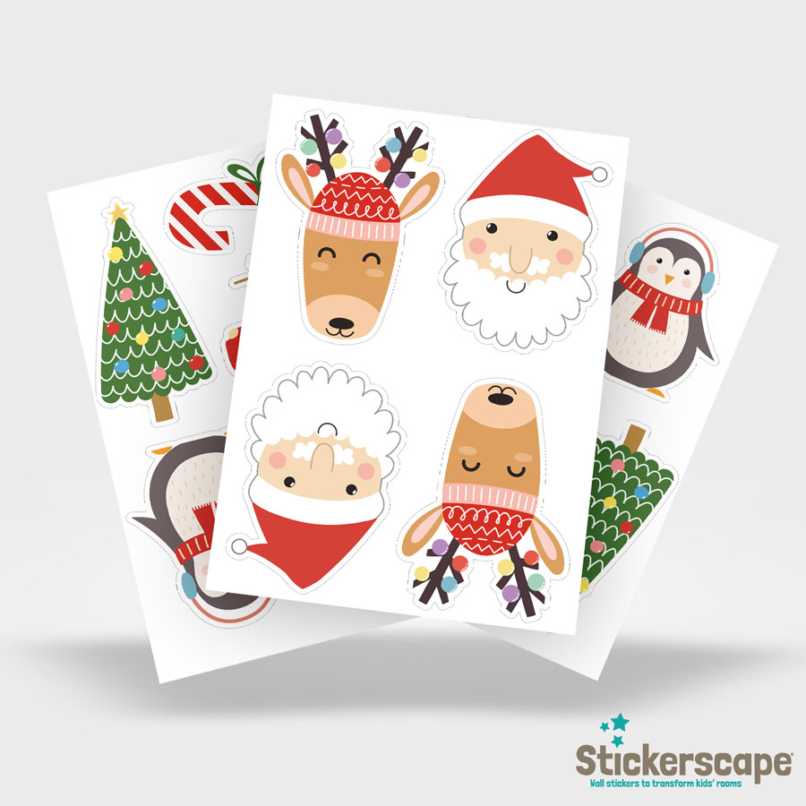 Christmas Stickaround Window Stickers   Christmas Window Stickers   Stickerscape