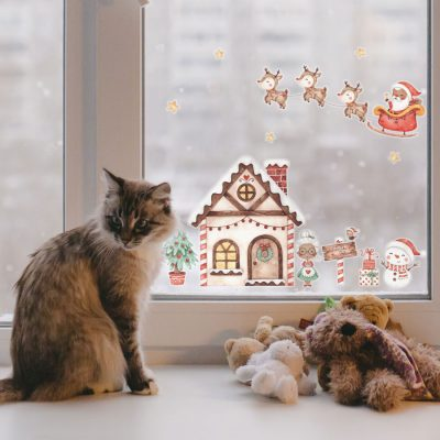 Santa's Home Window Sticker (Regular) | Christmas Window Stickers | Stickerscape