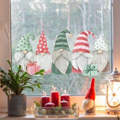 Christmas Gonks Window Sticker | Christmas Window Stickers | Stickerscape