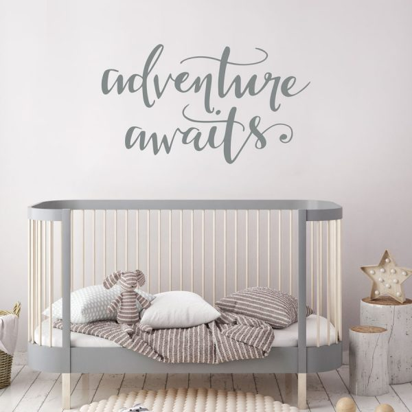 Adventure awaits quote wall sticker | Quote wall stickers | Stickerscap | UK