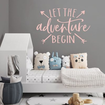 Adventure begins wall sticker | Quote wall stickers | Stickerscape | UK
