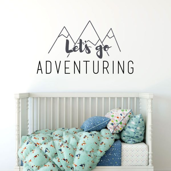 Let's go adventuring wall sticker | Wall sticker quotes | Stickerscape | UK