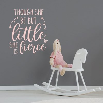 Little but fierce wall sticker quote | Quote wall stickers | Stickerscape | UK