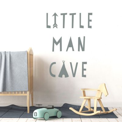 Little Man Cave wall sticker | Quote wall stickers | Stickerscape | UK