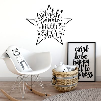 Twinkle twinkle little star wall sticker | Wall sticker quotes | Stickerscape | UK