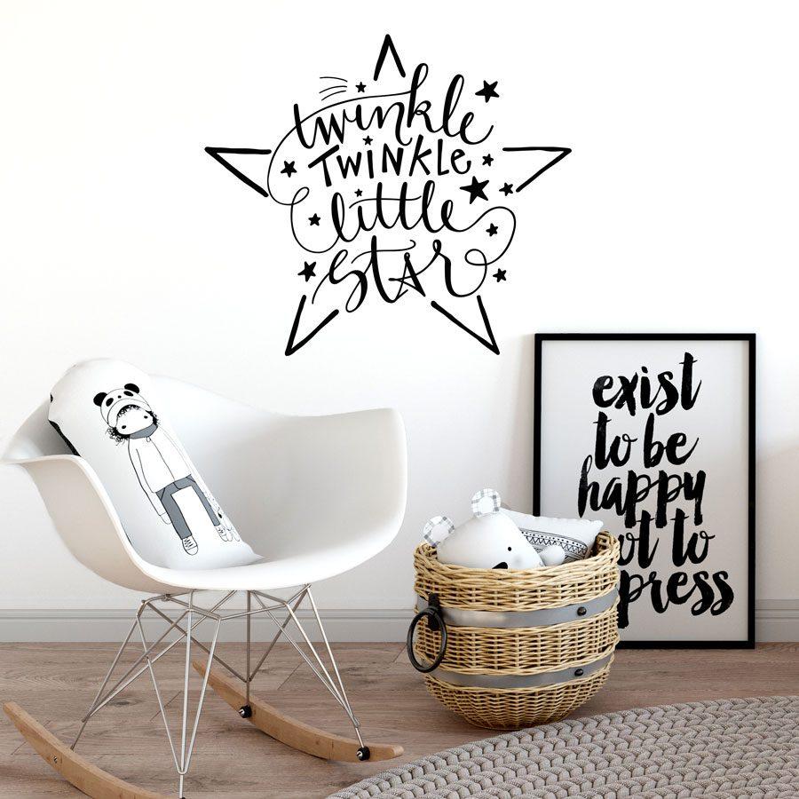 Twinkle twinkle little star wall sticker | Wall sticker quotes | Stickerscape | UK