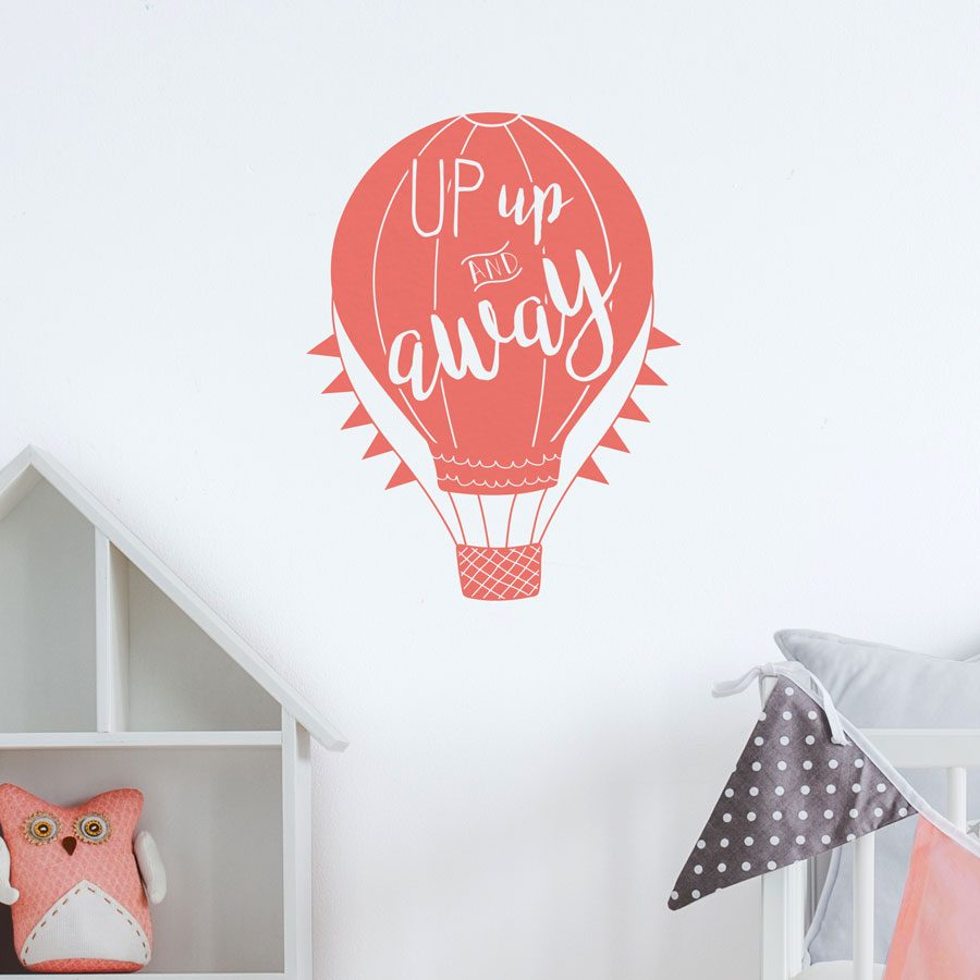Up, up and away quote wall sticker | Quote wall stickers | Stickerscape | UK