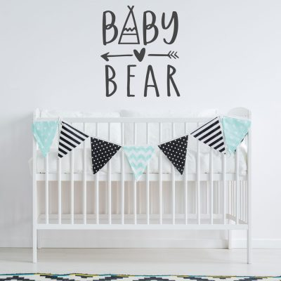 Baby Bear wall sticker | Quote wall stickers | Stickerscape | UK