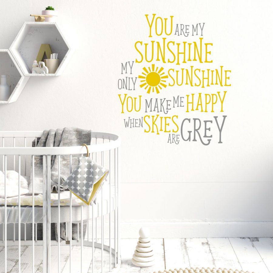 You are my sunshine wall sticker quote | Quote wall stickers | Stickerscape | UK