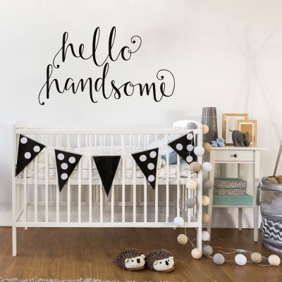 Hello Handsome wall sticker | Quote wall stickers | Stickerscape | UK