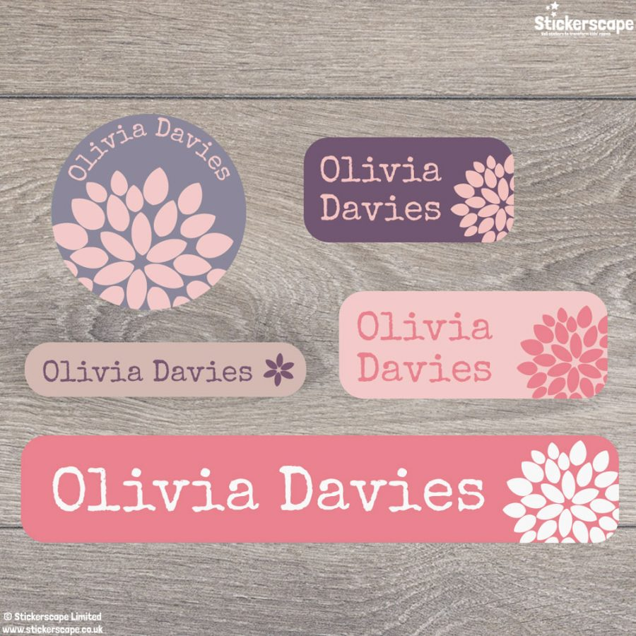 Flower name labels - mixed pack (option 2)