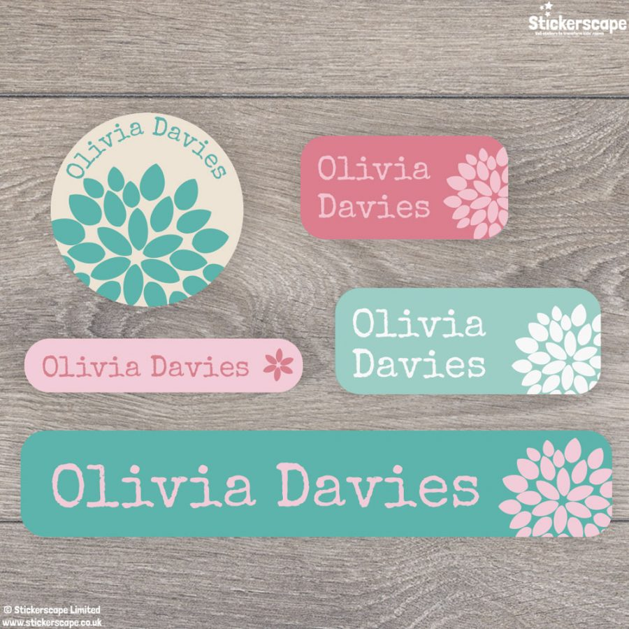 Flower name labels - mixed pack (option 3)