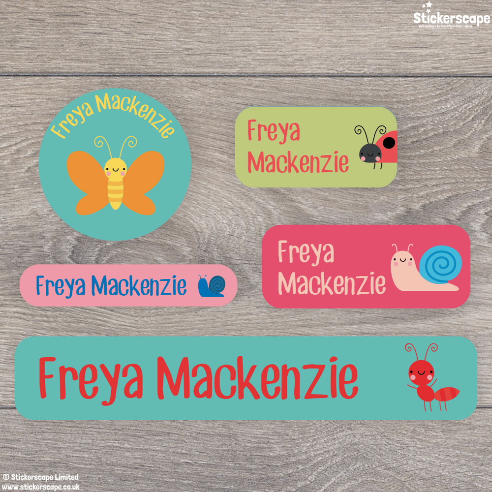 Insects name labels - mixed pack (option 3)