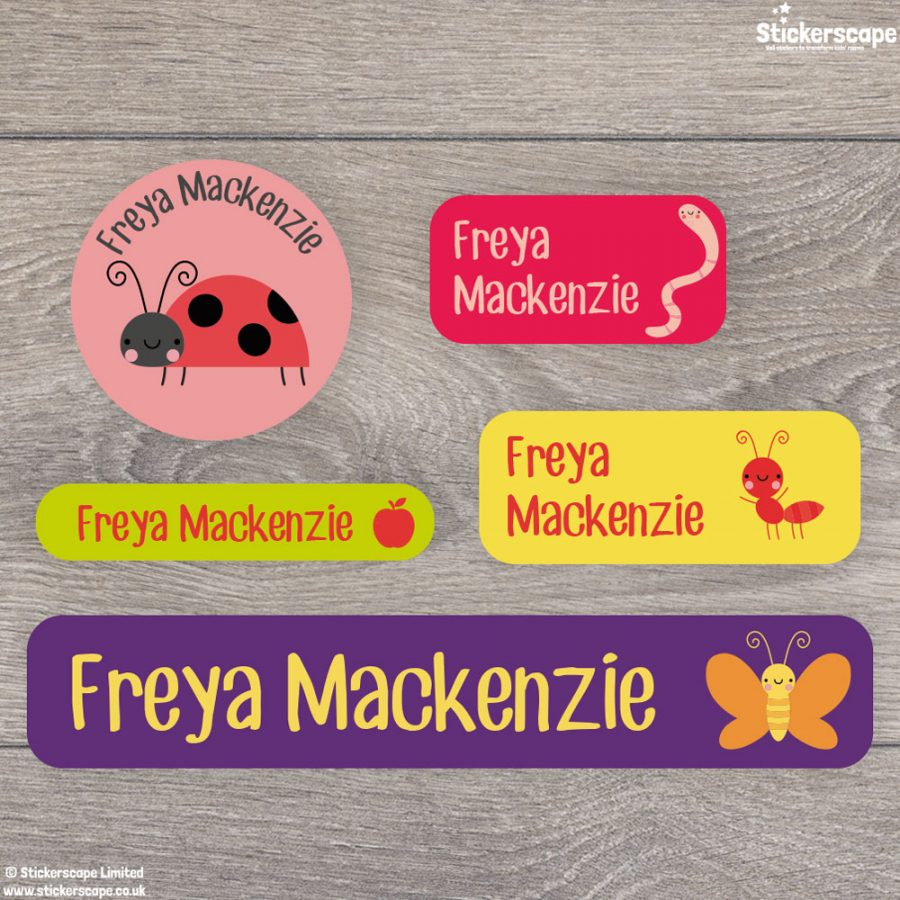Insects name labels - mixed pack (option 4)